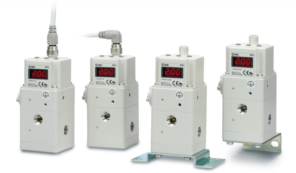 Série ITVH e ITVX – Regulador de pressão proporcional eletropneumático – Alta pressão - SMC