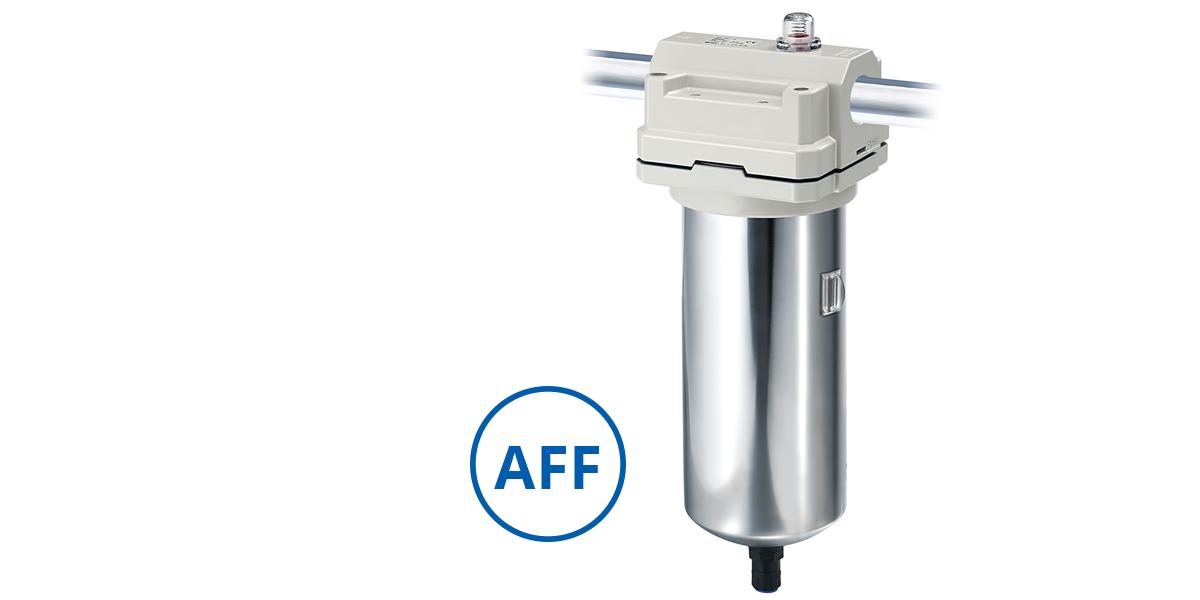 Filtros da série AFF removem resíduos da linha de ar comprimido